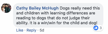 reading to dogs do not judge fb comment image