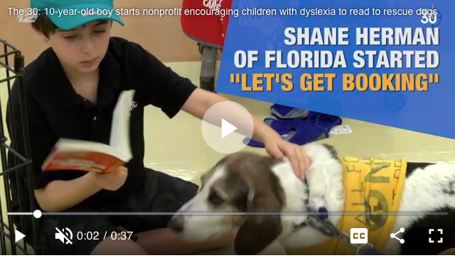 Shane Herman WPTV 5 NBC News Read To Dog At Petco Palm Beach Gardens