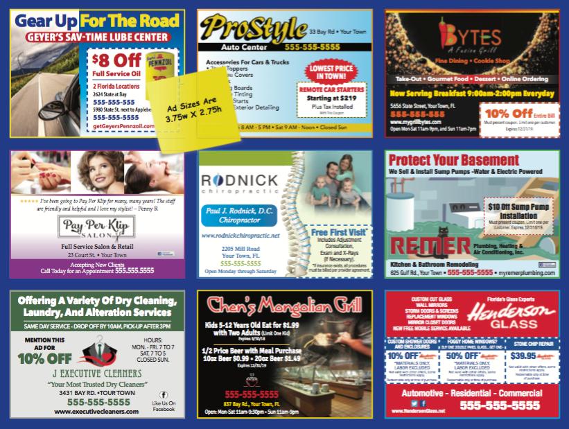 Local Advertising Palm Beach Gardens Postcard Mailer Front